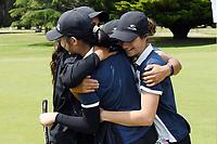 Manawatu Wanganui celebrate, 2019 New Zealand Women's Interprovincials, Maraenui Golf Club, Hawke's Bay, New Zealand, Saturday 06th December, 2019. Photo: Kerry Marshall/www.bwmedia.co.nz