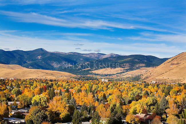 The Missoula, Montana valley in glorious fall color