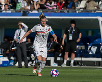 GRENOBLE, FRANCE - JUNE 22: Alexandra Popp #11 of the German National Team dribbles at midfield during a game between Panama and Guyana at Stade des Alpes on June 22, 2019 in Grenoble, France.