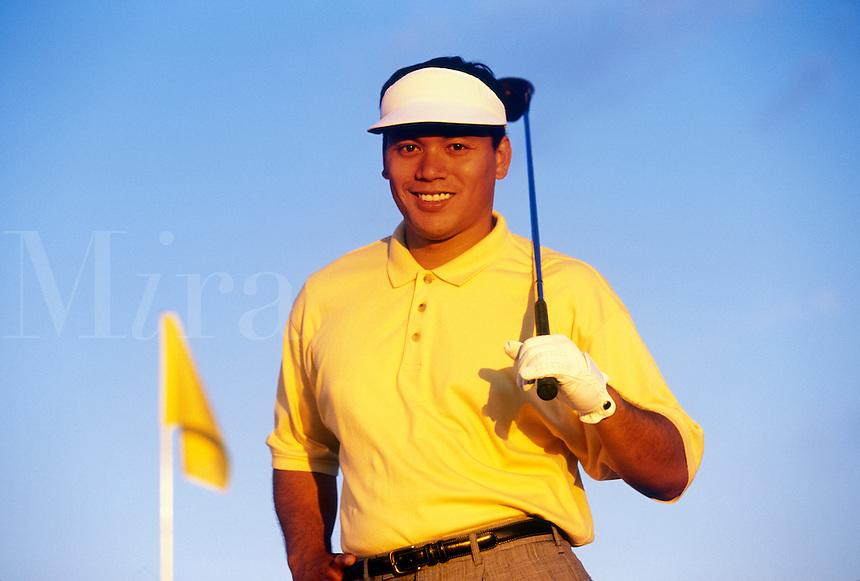 Asian American golfer.