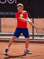 08-08-13, Netherlands, Rotterdam,  TV Victoria, Tennis, NJK 2013, National Junior Tennis Championships 2013,  Jens Hoogendam<br /> <br /> <br /> Photo: Henk Koster
