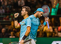 Rotterdam, The Netherlands, 16 Februari 2019, ABNAMRO World Tennis Tournament, Ahoy, Doubles: Jean-Julien Rojer (NED) and Horia Tecau (ROU) (R)<br /> Photo: www.tennisimages.com/Henk Koster