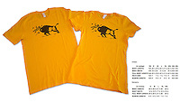 Our most popular t-shirt, featuring a Yellowstone bison tossing a tourist in the air.  This is the same design that has been used on safety fliers in the park for decades.  The image is used legally and with permission.<br /> <br /> Available in Unisex and Women's styles.  Also available in Sand.