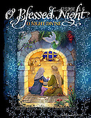 Randy, HOLY FAMILIES, HEILIGE FAMILIE, SAGRADA FAMÍLIA, paintings+++++Blessed-Night-Nativity-Doorway,USRW16,#xr#