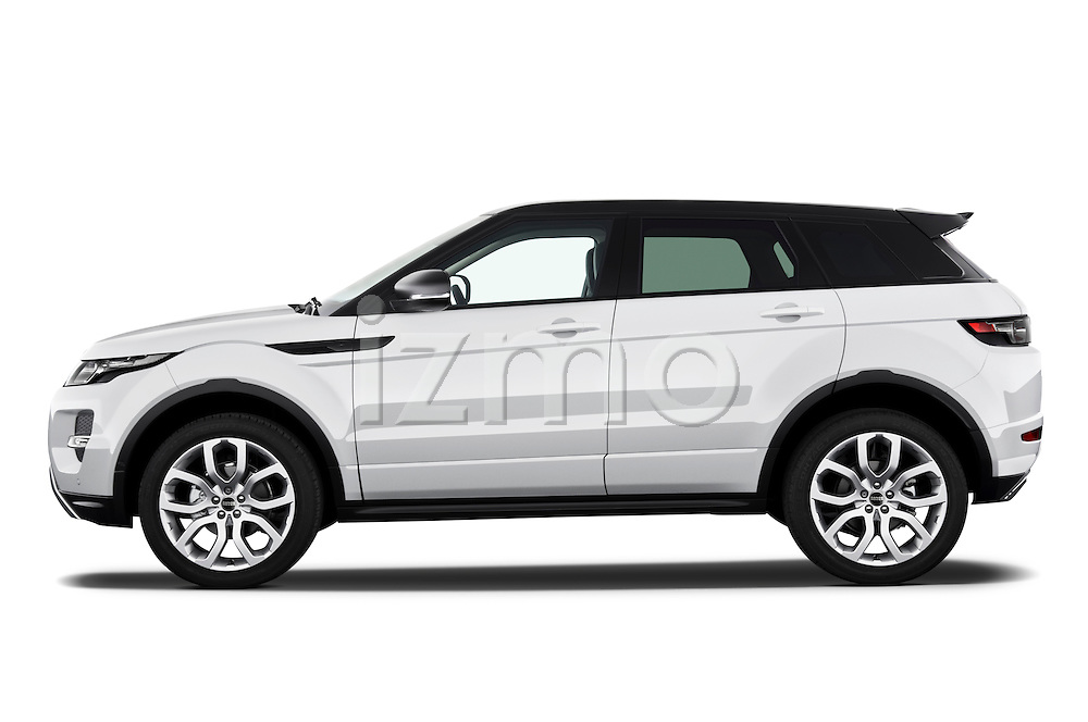 Driver side profile view of a 2011 Land Rover Range Rover Evoque SUV.