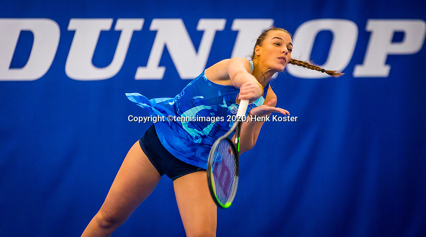 Amstelveen, Netherlands, 17  December, 2020, National Tennis Center, NTC, NK Indoor, National  Indoor Tennis Championships,   :  Sem Wensveen (NED) <br /> Photo: Henk Koster/tennisimages.com