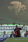Greenpeace international executive director Kumi Naidoo speaks at the launch of the Zero Deforestation campaign, People's Summit, United Nations Conference on Sustainable Development (Rio+20), Rio de Janeiro, Brazil, 15th June 2012. Photo © Sue Cunningham.
