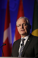 Marc Garneau, <br /> Minister of Transport, Canada attend the 22nd edition of the Conference of Montreal, held June 13 to 15, 2016<br /> <br /> PHOTO : Pierre Roussel -  Agence Quebec Presse