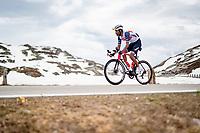 Amanuel Ghebreigzabhier (ERI/Trek - Segafredo) up the Passo San Bernardino (2065m/SUI)<br /> <br /> 104th Giro d'Italia 2021 (2.UWT)<br /> Stage 20 (through Switzerland) from Verbania to Valle Spluga-Alpe Motta (164km)<br /> <br /> ©kramon