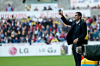 Saturday 19 October 2013 Pictured: Gus Poyet, Manager of Sunderland <br /> Re: Barclays Premier League Swansea City vSunderland at the Liberty Stadium, Swansea, Wales