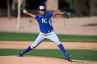 Kansas City Royals pitcher Franco Terrero (49) during an instructional league intersquad game on October 21, 2015 at the Papago Baseball Facility in Phoenix, Arizona.  (Mike Janes/Four Seam Images)
