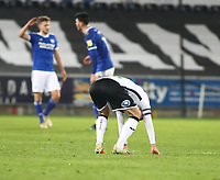 20th March 2021; Liberty Stadium, Swansea, Glamorgan, Wales; English Football League Championship Football, Swansea City versus Cardiff City; A dejected Matt Grimes of Swansea City after the 0-1 loss
