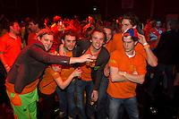 10-02-12, Netherlands,Tennis, Den Bosch, Daviscup Netherlands-Finland, Orange fans
