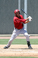 Justin Hilt of the Arizona Diamondbacks plays in an extended spring training game against the Oakland Athletics at the Diamondbacks minor league complex on May 30, 2011  in Scottsdale, Arizona. .Photo by:  Bill Mitchell/Four Seam Images.