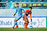 Jiangsu FC Defender Hong Jeongho (L) in action against Jeju United FC Forward Hwang Ilsu (R) during the AFC Champions League 2017 Group H match between Jeju United FC (KOR) vs Jiangsu FC (CHN) at the Jeju World Cup Stadium on 22 February 2017 in Jeju, South Korea. Photo by Marcio Rodrigo Machado / Power Sport Images