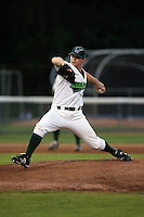 July 11th 2008:  Pitcher Wade Korpi of the Jamestown Jammers, Class-A affiliate of the Florida Marlins, during a game at Russell Diethrick Park in Jamestown, NY.  Photo by:  Mike Janes/Four Seam Images
