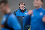 St Johnstone Training….16.12.16<br />Manager Tommy Wright pictured during training this morning at a wet and foggy McDiarmid Park<br />Picture by Graeme Hart.<br />Copyright Perthshire Picture Agency<br />Tel: 01738 623350  Mobile: 07990 594431