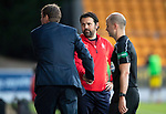 St Johnstone v Falkirk…24.07.18…  McDiarmid Park    Betfred Cup<br />Paul Hartley and Tommy Wright shake hands at full time<br />Picture by Graeme Hart. <br />Copyright Perthshire Picture Agency<br />Tel: 01738 623350  Mobile: 07990 594431