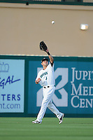 Jupiter Hammerheads outfielder Brent Keys (3) during a game against the Tampa Yankees on July 17, 2013 at Roger Dean Stadium in Jupiter, Florida.  Jupiter defeated Tampa 4-3.  (Mike Janes/Four Seam Images)