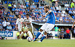 St Johnstone v FC Luzern...24.07.14  Europa League 2nd Round Qualifier<br /> Stevi May scores from the penalty spot<br /> Picture by Graeme Hart.<br /> Copyright Perthshire Picture Agency<br /> Tel: 01738 623350  Mobile: 07990 594431