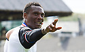 Caley's Edward Ofere celebrates after he scores first goal.