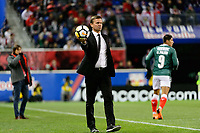 Harrison, NJ - Tuesday April 10, 2018: Jesse Marsch during leg two of a  CONCACAF Champions League semi-final match between the New York Red Bulls and C. D. Guadalajara at Red Bull Arena. C. D. Guadalajara defeated the New York Red Bulls 0-0 (1-0 on aggregate).