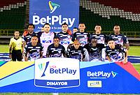 TUNJA - COLOMBIA, 27-02-2021: Jugadores de Atletico Junior posan para una foto, antes de partido de la fecha 10 entre Patriotas Boyaca F. C. y Atletico Junior por la Liga BetPlay DIMAYOR I 2021, jugado en el estadio La Independencia de la ciudad de Tunja. / Players of Atletico Junior pose for a photo, prior a match of the 10th date between Patriotas Boyaca F. C. and Atletico Junior for the BetPlay DIMAYOR I 2021 League played at the La Independencia stadium in Tunja city. / Photo: VizzorImage / Edward Leguizamon / Cont.