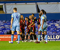 2nd October 2020; St Andrews Stadium, Coventry, West Midlands, England; English Football League Championship Football, Coventry City v AFC Bournemouth; Dan Gosling of AFC Bournemouth celebrates with his team after scoring past to take the lead in the 51st minute 1-2