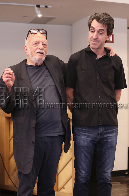 Hal Prince and Jason Robert Brown attends the Meet & Greet for the Manhattan Theatre Club's Broadway Premiere of 'Prince of Broadway' at the MTC Studios on July 20, 2017 in New York City.