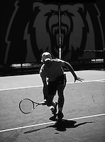 BERKELEY, CA - March 25, 2015: The Cal Bears Men's Tennis vs the Nevada Wolf Pack in Berkeley, California. Final score, Cal Bears 7, Nevada Wolf Pack 0.