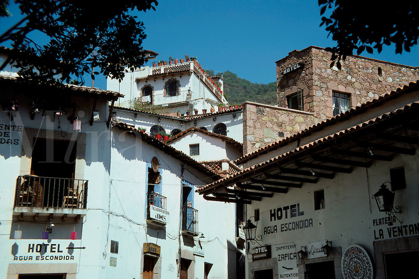 Buildings and rooflines near center of town, Taxco, Mexico, Guerrero State