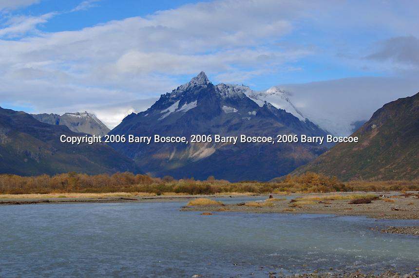 Mountain scenery in Katmai, Alaska