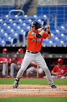Miami Marlins Sean Reynolds (47) at bat during a Florida Instructional League game against the Washington Nationals on September 26, 2018 at the Marlins Park in Miami, Florida.  (Mike Janes/Four Seam Images)