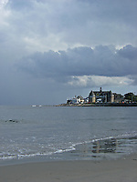Narragansett Towers with Clouds