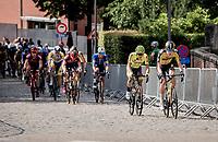 eventual winner Pascal Eenkhoorn (NED/Jumbo-Visma) up the cobbles<br /> <br /> Heylen Vastgoed Heistse Pijl 2021 (BEL)<br /> One day race from Vosselaar to Heist-op-den-Berg (BEL/193km)<br /> <br /> ©kramon