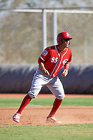 Cincinnati Reds Carlos Rivero (95) during an Instructional League game against the Chicago White Sox on October 11, 2016 at the Cincinnati Reds Player Development Complex in Goodyear, Arizona.  (Mike Janes/Four Seam Images)