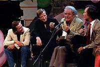 Claude Dubois, Jean Lapointe, Felix Leclerc et Jean-Pierre Ferland a <br /> Station Soleil, le 2 septembre 1983<br /> <br /> <br /> <br /> <br /> PHOTO : Agence Quebec Presse