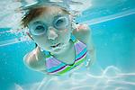 USA Florida, St. Pete Beach, Underwater shot of girl (8-9) diving