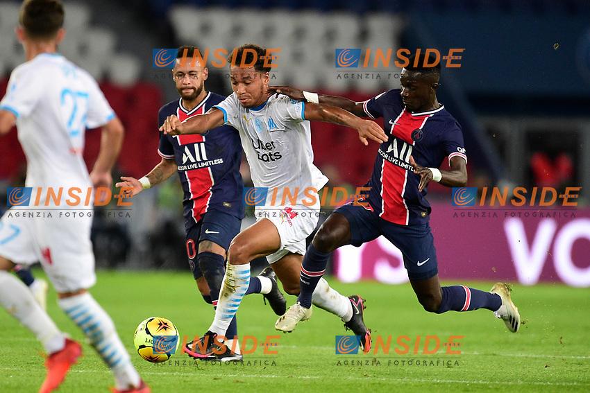 Boubacar Kamara (OM) vs Idrissa Gueye (PSG)<br /> 13/09/2020<br /> Paris Saint Germain PSG vs Olympique Marseille OM <br /> Calcio Ligue 1 2020/2021  <br /> Foto JB Autissier Panoramic/insidefoto <br /> ITALY ONLY