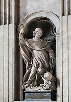 St Norbet statue, St Peter's Basilica, Vatican City, Rome, Italy