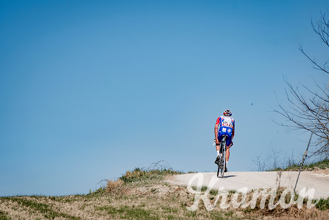 Tobias Ludvigsson (SWE/Groupama - FDJ)<br /> <br /> 15th Strade Bianche 2021<br /> ME (1.UWT)<br /> 1 day race from Siena to Siena (ITA/184km)<br /> <br /> ©kramon
