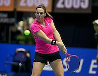 20-12-13,Netherlands, Rotterdam,  Topsportcentrum, Tennis Masters,Angelique van der Meet(NED)   <br /> Photo: Henk Koster