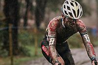 rainsoaked Eli Iserbyt (BEL/Pauwels Sauzen-Bingoal)<br /> <br /> Men's Race at the X2O Herentals Cross 2020 (BEL)<br /> <br /> ©kramon