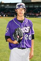 June 30th 2007: Reid Santos of the Akron Aeros, Class-AA affiliate of the Cleveland Indians in a game versus the Erie Seawolves at Jerry Uht Park in Erie, PA.  Photo by:  Mike Janes/Four Seam Images