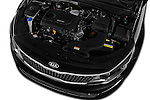 Car Stock 2016 KIA Optima Sense 4 Door Sedan Engine  high angle detail view