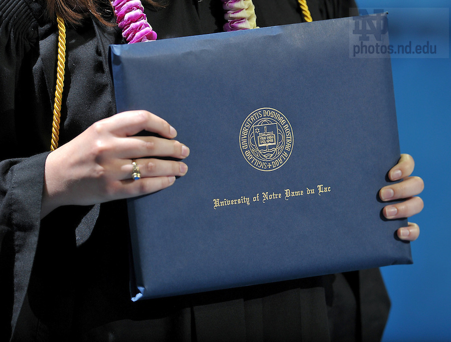 May 21, 2011; 2011 College of Arts & Letters Commencement ceremony...Photo by Matt Cashore/University of Notre Dame