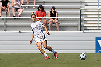 CARY, NC - SEPTEMBER 12: Christen Westphal #18 of the Portland Thorns FC passes the ball during a game between Portland Thorns FC and North Carolina Courage at Sahlen's Stadium at WakeMed Soccer Park on September 12, 2021 in Cary, North Carolina.