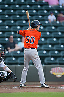 Kyle Tucker (30) of the Buies Creek Astros at bat against the Winston-Salem Dash at BB&T Ballpark on April 15, 2017 in Winston-Salem, North Carolina.  The Astros defeated the Dash 13-6.  (Brian Westerholt/Four Seam Images)