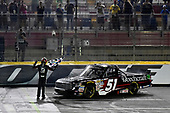 NASCAR Camping World Truck Series<br /> North Carolina Education Lottery 200<br /> Charlotte Motor Speedway, Concord, NC USA<br /> Friday 19 May 2017<br /> Kyle Busch, Cessna Toyota Tundra celebrates his win with a burnout<br /> World Copyright: Nigel Kinrade<br /> LAT Images<br /> ref: Digital Image 17CLT1nk05354