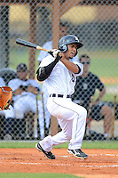 GCL Tigers shortstop Steven Negron (9) during a game against the GCL Phillies on July 16, 2013 at Tiger Town in Lakeland, Florida.  GCL Tigers defeated GCL Phillies 8-6.  (Mike Janes/Four Seam Images)